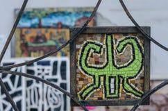 Nahaufnahme eines Mosaiks in der Geschöpfform Lizenzfreie Stockfotografie