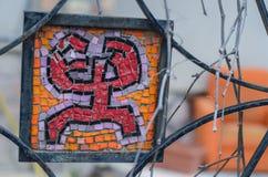 Nahaufnahme eines Mosaiks in der Geschöpfform Lizenzfreie Stockbilder