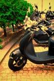 Nahaufnahme eines Motorrad ` s Kombi-Instruments Lizenzfreies Stockbild