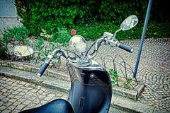 Nahaufnahme eines Motorrad ` s Kombi-Instruments Lizenzfreie Stockbilder
