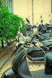 Nahaufnahme eines Motorrad ` s Kombi-Instruments Weinlese-Effekt Lizenzfreie Stockbilder