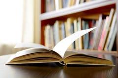 Nahaufnahme eines offenen Buches Stockfotografie