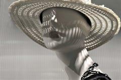 Nahaufnahme eines Plastikmannequinkopfes stockfotografie