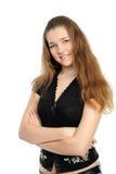 Nahaufnahme eines schönen Lächelns der jungen Frau Lizenzfreie Stockfotos