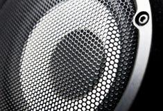 Nahaufnahme eines schwarzen Lautsprecherunterseeboot Woofer Lizenzfreie Stockbilder