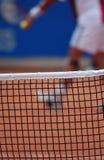 Nahaufnahme eines Tennisnetzes stockfotos