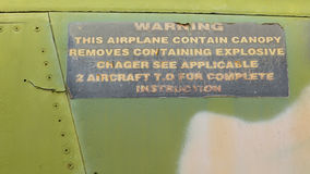 Nahaufnahme eines Vietnamkriegflugzeuges Stockfotografie