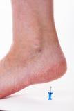 Nahaufnahme eines weiblichen Fußes Stockfoto