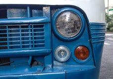 Nahaufnahme eines Weinlesekleinbusses Lizenzfreies Stockfoto