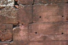 Nahaufnahme führt Beschaffenheit der Steinwand einzeln auf Stockbild