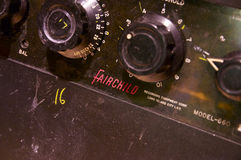 Nahaufnahme Fairchild 660; Abbey Road Studios, London Lizenzfreie Stockfotos