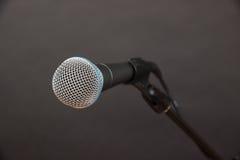 Nahaufnahme geschossen vom dynamischen Mikrofon Lizenzfreie Stockbilder