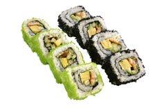 Nahaufnahme geschossen von den traditionellen frischen japanischen Sushi Stockfoto