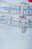 Nahaufnahme geschossen von der Jeansfrontseite stockfoto