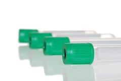 Nahaufnahme-grünes Spitzenreagenzglas Stockfoto