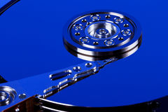 Nahaufnahme innerhalb der Festplatte lizenzfreies stockbild
