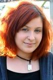 Nahaufnahme-jugendlich Mädchen-Portrait-Vertikale Lizenzfreies Stockbild