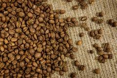 Nahaufnahme-Kaffeebohne-Hintergrund Stockfoto