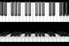 Nahaufnahme-Klaviertasten stock abbildung