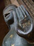 Nahaufnahme-Laotianer-Buddha-Hand Lizenzfreie Stockfotografie