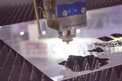 Nahaufnahme-Laser-Ausschnittdüse Lizenzfreie Stockfotos