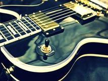 Nahaufnahme Les Paul Guitar Stockbild