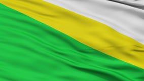 Nahaufnahme-Medina-Stadtflagge, Kolumbien lizenzfreie abbildung
