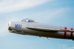Nahaufnahme Mig-17 des Cockpits im Flug Stockbild