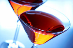 Nahaufnahme mit zwei Cocktails Lizenzfreies Stockbild