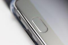 Nahaufnahme am modernen Handy stockbilder