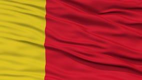 Nahaufnahme Moroni City Flag, Komoren lizenzfreie abbildung
