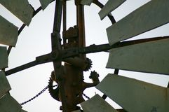 Nahaufnahme oder abstraktes Nehmen auf Windmühle stockfotos