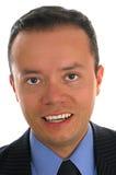 Nahaufnahme-Portrait eines Geschäftsmannes Stockfotos