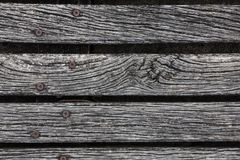 Nahaufnahme rauen verwitterten Hartholz Decking Stockfotografie