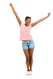 Nahaufnahme-schönes Afroamerikaner-Mode-Modell-Weiß backgroun Lizenzfreie Stockfotografie