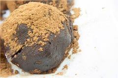 Nahaufnahme-Schokoladenball Stockfoto