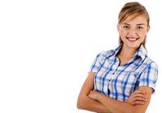 Nahaufnahme schoss von den JungeGeschäftsfrauen stockfotos