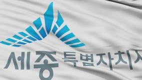 Nahaufnahme Sejong-Stadtflagge, Südkorea stock footage