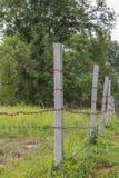 Nahaufnahme-Stacheldrahtmakro alt Stockbild
