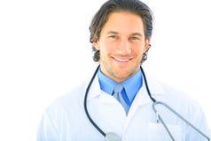 Nahaufnahme-stattlicher junger Doktor stockbilder