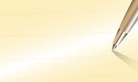 Nahaufnahme-Stift mit schreiben Raum auf altes Papier Lizenzfreies Stockbild