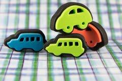 Nahaufnahme Toy Car Stamps Stockfotos