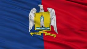 Nahaufnahme Valparaiso-Stadtflagge, Chile stock abbildung