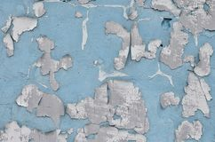 Nahaufnahme verwitterte und befleckte veraltetes blaues Betonmauer textu Lizenzfreie Stockfotografie