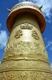 Nahaufnahme vom größten tibetian drehen herein die Welt in Shangri-La Lizenzfreie Stockfotografie