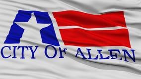 Nahaufnahme von Allen City Flag stock abbildung