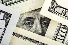 Nahaufnahme von Benjamin Franklin Portrait Stockfotos