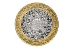 Nahaufnahme von Briten 2 Pfund Münze Stockfoto