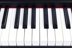 Nahaufnahme von E-Piano-Schlüsseln Stockbilder