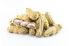 Nahaufnahme von Erdnüssen Stockfotografie